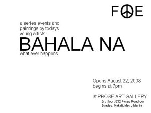 Bahala Na Art Exhibit Flyer