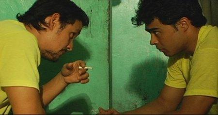 Emilio Garcia (L) and Sid Lucero (R) in a scene from Selda