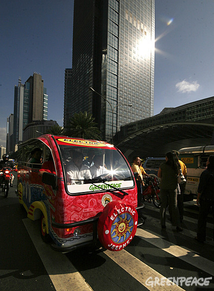 The E-Jeepney in Makati City