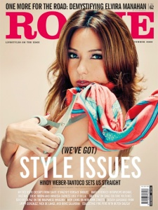 Hindy Webber-Tantoco on the cover of September's Rogue Magazine