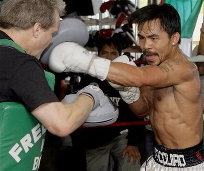 Manny Pacquiao Training With Freddie Roach