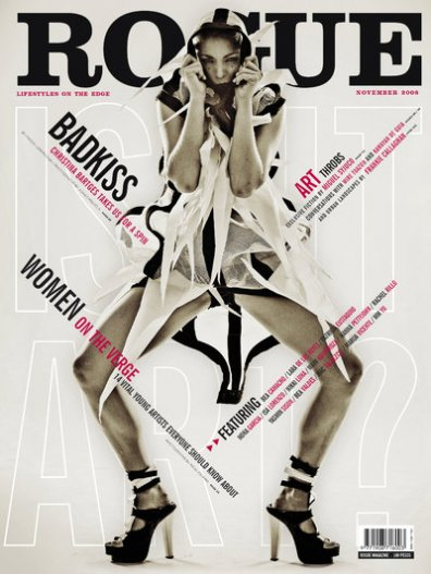 Christina Bartges on Cover of Rogue November Issue