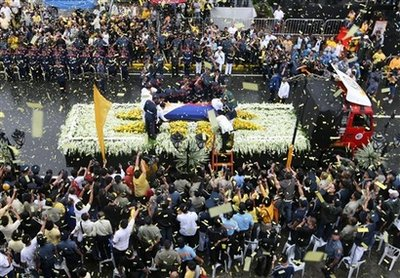 The Four Honor Guards With Cory Aquino's Coffin