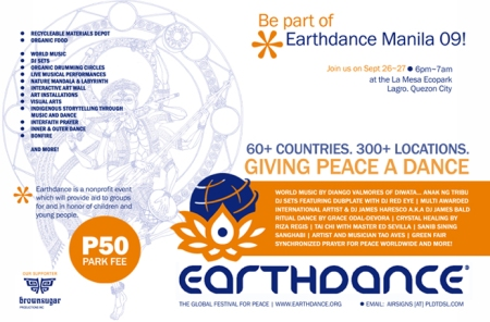 Earthdance Manila e-flyer