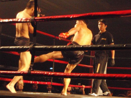 Charlie Angel Kicks Alvin Ramirez At The Rogue Black Tie Brawl