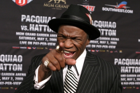 """Pacquiao is a bitch."" - Floyd Mayweather Sr."